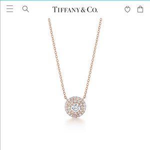 *RARE*Tiffany Soleste Diamond Pendant Rose Gold!